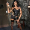 Black SHEMALE Chanel playing in the dungeon